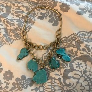 Anthropologie turquoise inspired necklace